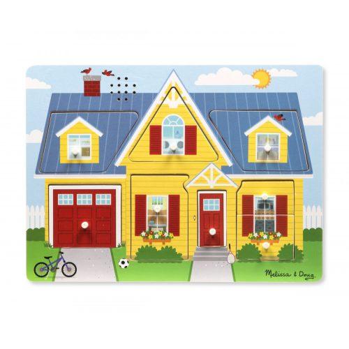 Melissa & Doug Hangos puzzle, A ház körül