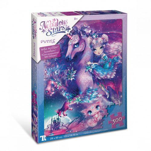 Csillogó puzzle 300 db-os -Nebulia és lova