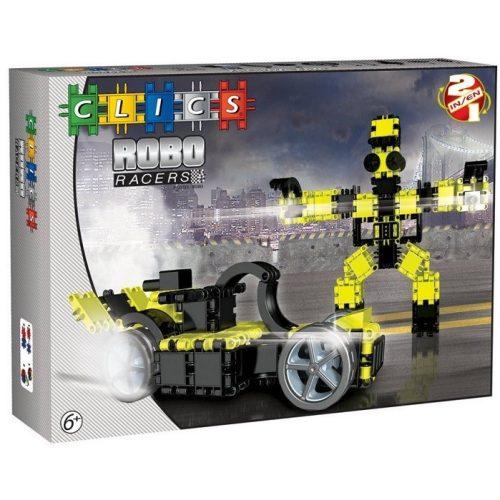 RoboRacer box fekete-sárga - 2 in 1 (AB002)  építőjáték