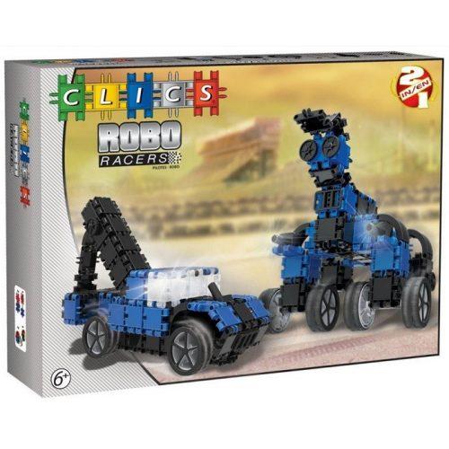 RoboRacer box fekete-kék - 2 in 1 (AB003) Clics építőjáték