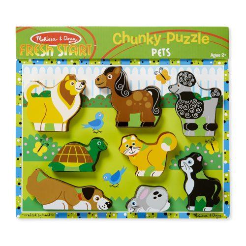 melissa&doug   készségfejlesztő játék, könnyen megfogható puzzle, kis kedvencek