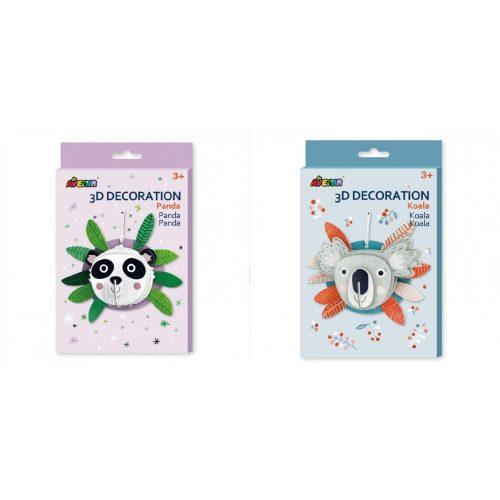 3D Puzzle szobadekoráció-  koala és panda