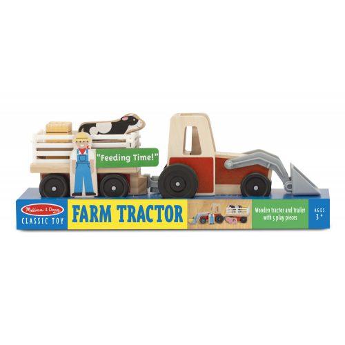 melissa&doug   fa jármű, traktor kiegésztőkkel