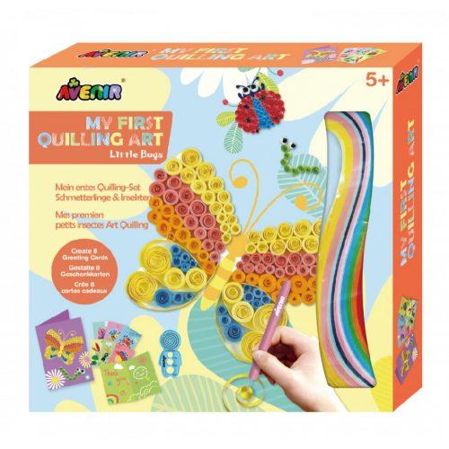 Üdvözlőkártyakészítő-quilling-pillangó