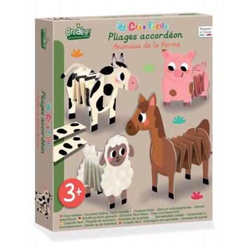 Legyező hajtogató készlet - farm állatai