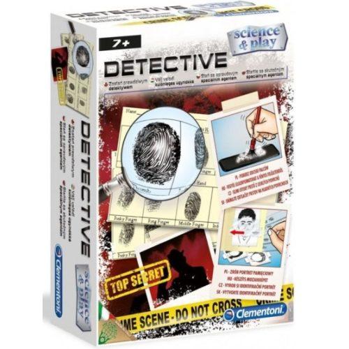 Detektív készlet -kellékek nyomozáshoz