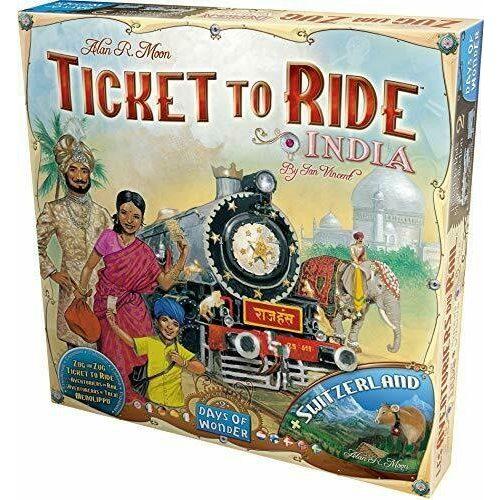 Ticket to Ride: Svájc és India