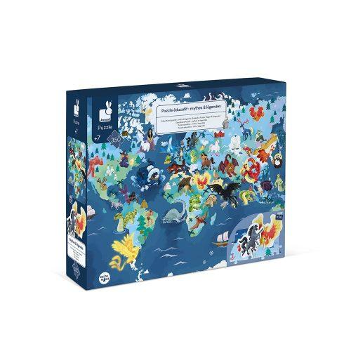 Janod- oktató puzzle 3D-s  350 DB -os  misztikus élőlények