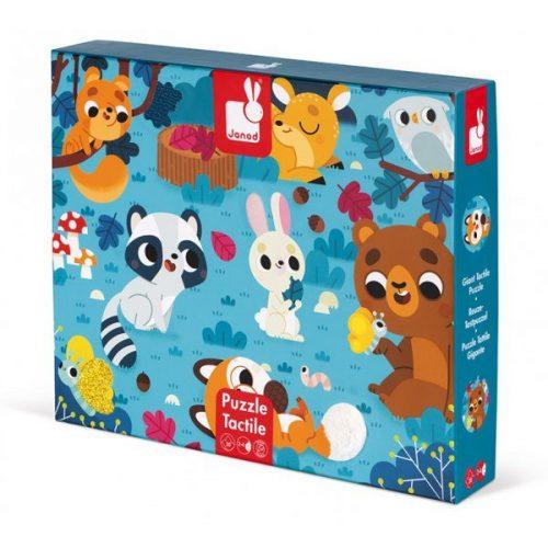 tapintós puzzle-erdei állatok 20db-os