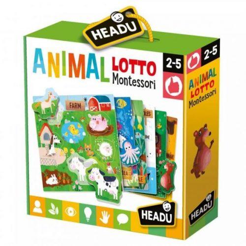 Montessori lottó-Állatok Headu