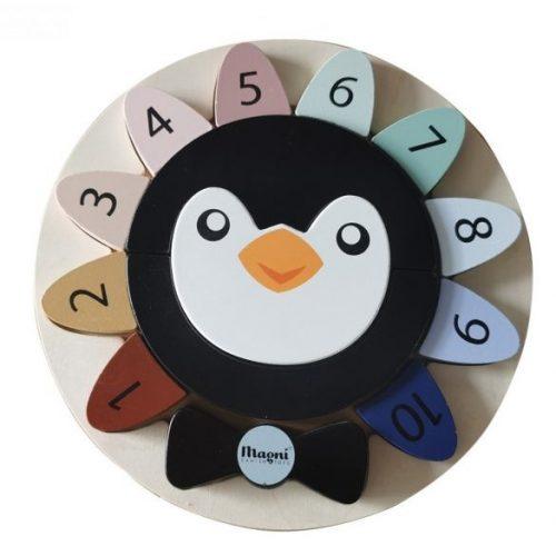 Fa pigvines puzzle kivehető számokkal