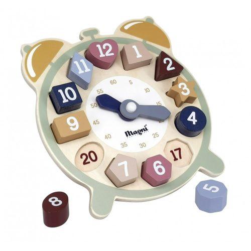 Fa óra kivehető számokkal