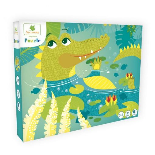 Puzzle-Krokodil-36-db-os-Sycomore